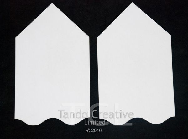 Tando Creative Chipboard Tags - Wavy